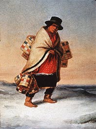 The Basket Seller | Cornelius Krieghoff | Painting Reproduction