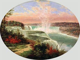 The Artist at Niagara, Undated by Cornelius Krieghoff | Painting Reproduction