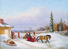 The Toll Gate | Cornelius Krieghoff | Painting Reproduction