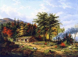 Clearing Land near the St. Maurice River | Cornelius Krieghoff | Painting Reproduction