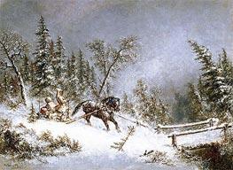 Winter Scene, Blizzard | Cornelius Krieghoff | Gemälde Reproduktion