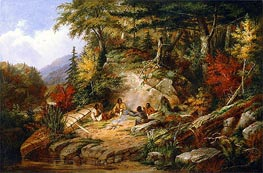 Chippewas on Lake Superior, 1860 by Cornelius Krieghoff | Painting Reproduction