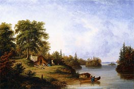 In the Thousand Islands, c.1858 by Cornelius Krieghoff | Painting Reproduction