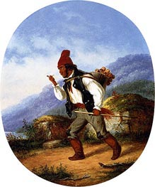 The Berry Seller, 1860 by Cornelius Krieghoff | Painting Reproduction
