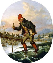 The Old Poacher, c.1860 by Cornelius Krieghoff | Painting Reproduction