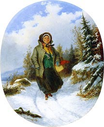Going to Market | Cornelius Krieghoff | Painting Reproduction