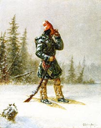 Calling the Moose, c.1860 by Cornelius Krieghoff | Painting Reproduction