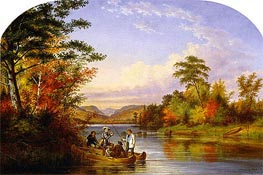 The Narrows on Lake St. Charles, 1859 by Cornelius Krieghoff | Painting Reproduction
