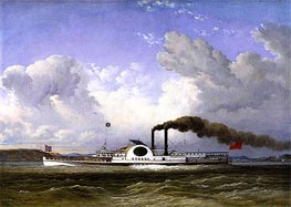 The Steamship Quebec, 1853 by Cornelius Krieghoff | Painting Reproduction