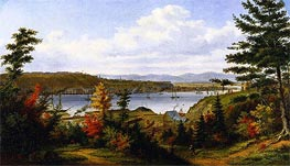 View of Quebec City from Pointe-Lévis, 1863 by Cornelius Krieghoff | Painting Reproduction
