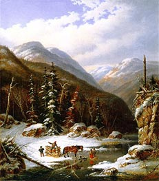 In the Jardin de Caribou, 50 Miles below Quebec, 1861 by Cornelius Krieghoff | Painting Reproduction