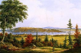 Quebec from Pointe-Lévis, 1853 by Cornelius Krieghoff | Painting Reproduction