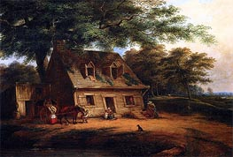 Cottage, St. Anne, c.1850 by Cornelius Krieghoff | Painting Reproduction