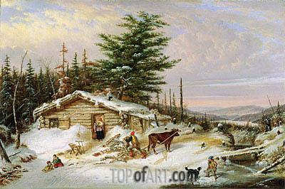 Cornelius Krieghoff | Settler's Log House, 1856