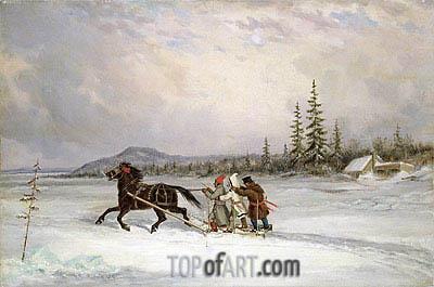 Habitants Sleighing, c.1855 | Cornelius Krieghoff | Painting Reproduction