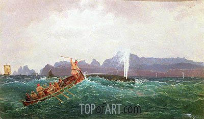A Whaling Scene,  | Cornelius Krieghoff | Painting Reproduction