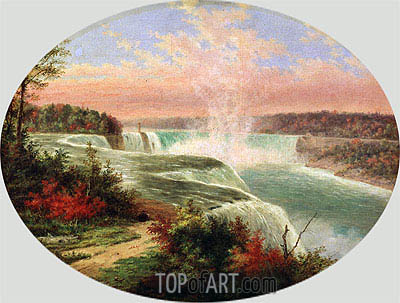 The Artist at Niagara,  | Cornelius Krieghoff | Gemälde Reproduktion