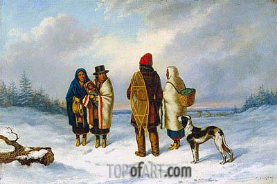 Cornelius Krieghoff | Indians in a Snowy Landscape, c.1847/48