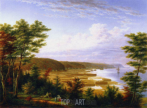 Sillery Cove, Quebec, c.1864 | Cornelius Krieghoff| Painting Reproduction
