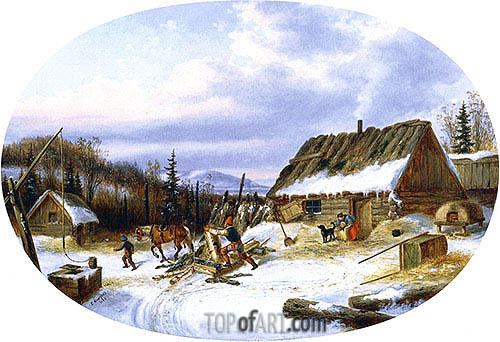 Cornelius Krieghoff | Settler's House, Laval, 1863