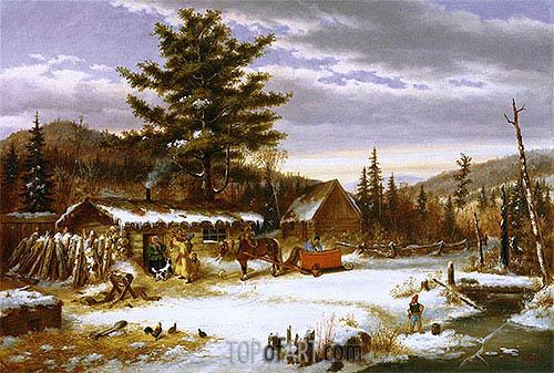 Cornelius Krieghoff | Habitant Returning from Market, 1863