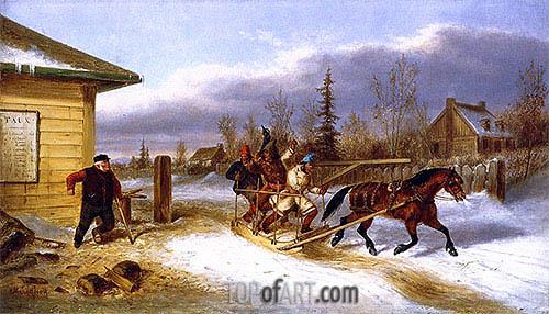 Cornelius Krieghoff | Cheating the Toll Man, c.1863