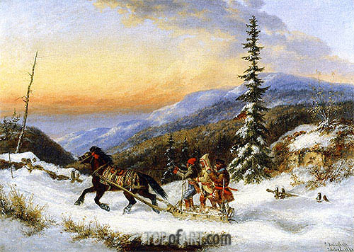 Cornelius Krieghoff | Habitants on a Trip to Town, 1861