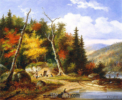 Lake Memphremagog, c.1860 | Cornelius Krieghoff | Painting Reproduction