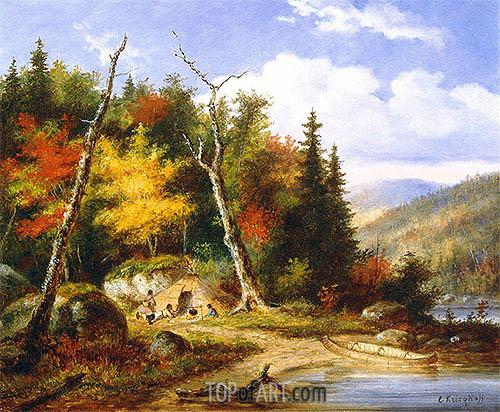 Cornelius Krieghoff | Lake Memphremagog, c.1860