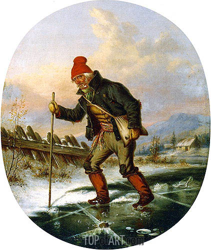 The Old Poacher, c.1860 | Cornelius Krieghoff | Gemälde Reproduktion