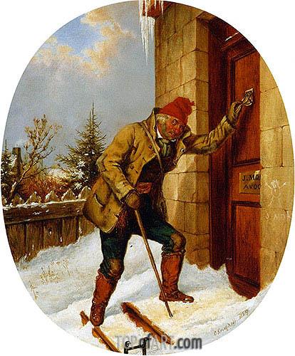 Cornelius Krieghoff | Pour le Bon Dieu, 1859