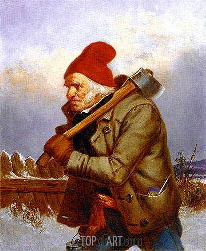 The Woodcutter, 1857 | Cornelius Krieghoff| Painting Reproduction