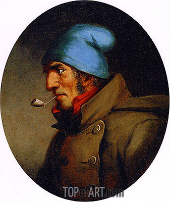 Cornelius Krieghoff | Head of a Habitant, c.1855