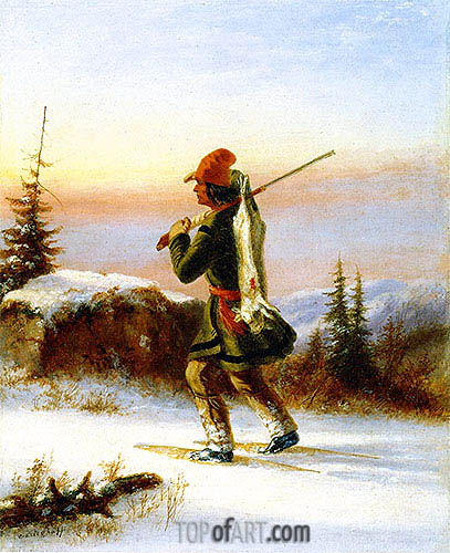 The Trapper, c.1855 | Cornelius Krieghoff| Painting Reproduction