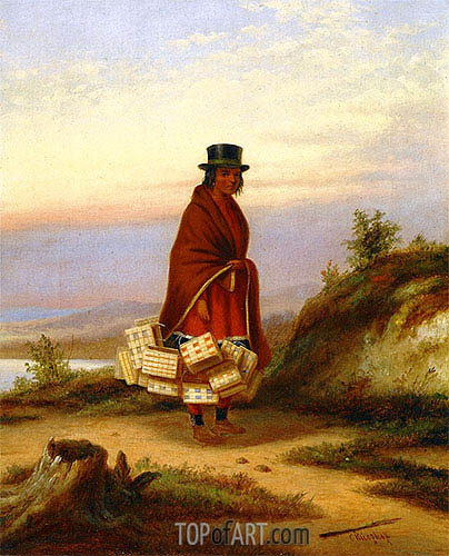 A Caughnawaga Woman, c.1855 | Cornelius Krieghoff| Painting Reproduction