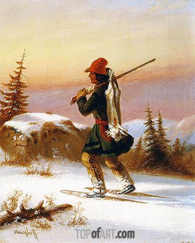 Cornelius Krieghoff | A Lorette Indian, c.1855