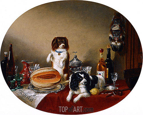 Cornelius Krieghoff | The Pets and the Materials, 1860