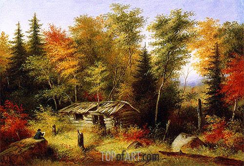 Cornelius Krieghoff | The Artist Painting, c.1860