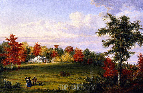 The Country House of Capt. John Walker, near Quebec, 1857 | Cornelius Krieghoff| Painting Reproduction