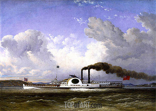 The Steamship Quebec, 1853 | Cornelius Krieghoff| Painting Reproduction