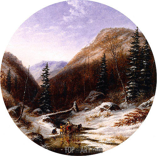 In the Jardin de Caribou, below Quebec, 1856 | Cornelius Krieghoff | Painting Reproduction