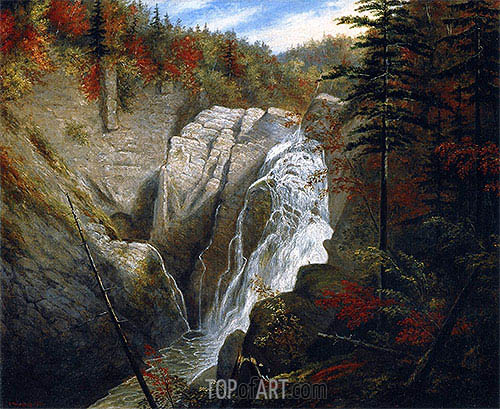 The St. Anne Falls, 1855 | Cornelius Krieghoff| Painting Reproduction