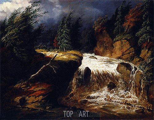 Cornelius Krieghoff | The Passing Storm, St. Féréol, 1854