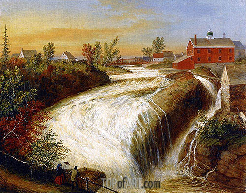 Falls of Lorette, near Quebec, 1854 | Cornelius Krieghoff| Painting Reproduction