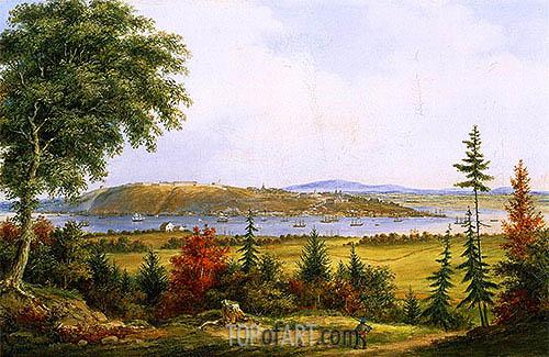 Cornelius Krieghoff | Quebec from Pointe-Lévis, 1853