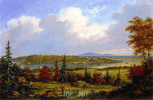 Quebec Viewed from Pointe-Lévis, 1853 | Cornelius Krieghoff| Painting Reproduction