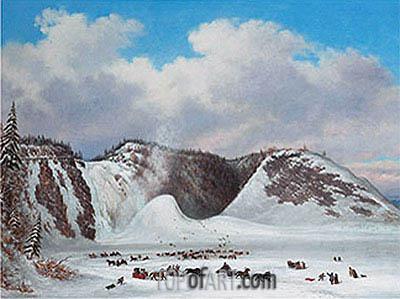 Cornelius Krieghoff | Montmorency Falls, 1853