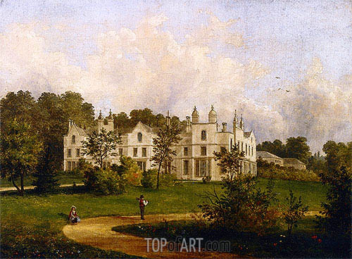 King's Walden, Hertfordshire, 1846 | Cornelius Krieghoff | Painting Reproduction
