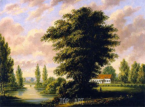 Cornelius Krieghoff | Seigneury at Sainte-Anne-de-la-Pérade, 1846