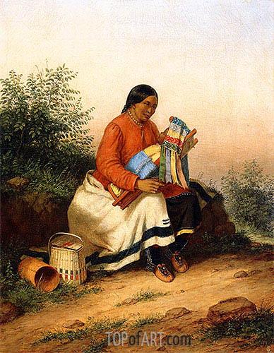Cornelius Krieghoff | Caughnawaga Woman and Baby, c.1849